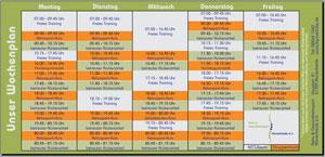 Kurse & Trainingszeiten